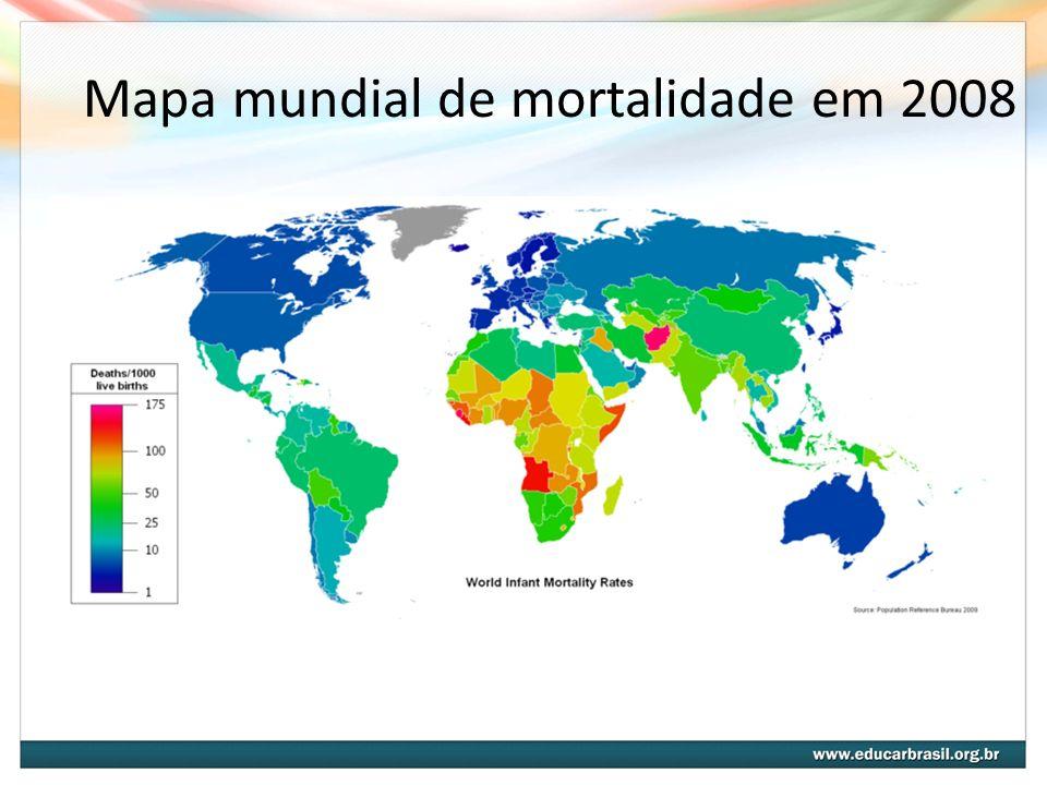 Mapa mundial de mortalidade em 2008