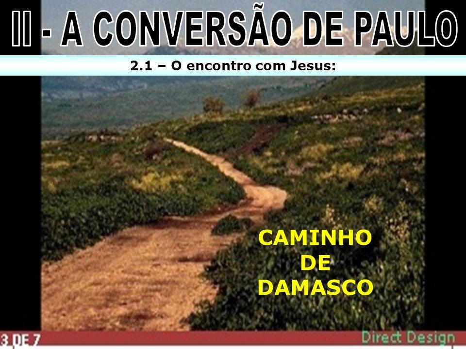 CAMINHO DE DAMASCO 2.1 – O encontro com Jesus: