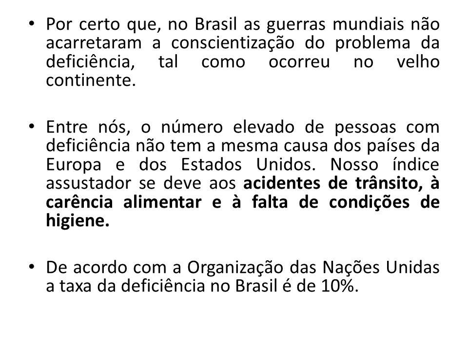 Pessoa com deficiência e o ordenamento jurídico brasileiro Emenda Constitucional nº 1, de 1969 Emenda nº 12, de 1978 Constituição Federal de 1988 LEI N.