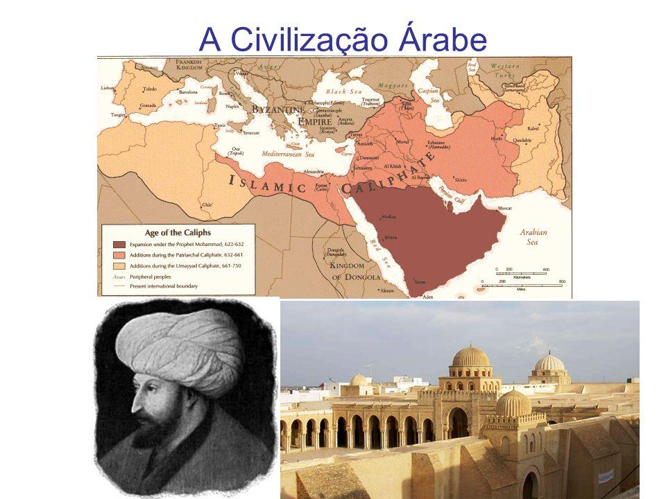 A Arábia pré - islâmica Região anecúmena; Adensamentos populacionais concentravam-se nos oásis e vales de rios perenes; Árabes pré islâmicos dividiam-se em povos urbanos, concentrados em Meca e Medina e beduínos, tribos nômades do interior; Líderes: sheiks e emirs (período de guerras); Religiões politeístas, agregadas em Meca (principal centro comercial e religioso da região) e dominada pelos coraixitas, guardiões do santuário de Caaba.