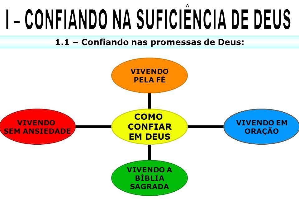 1.2 – Confiando na fidelidade de Deus: x …MAS, O QUE É CONFIAR.