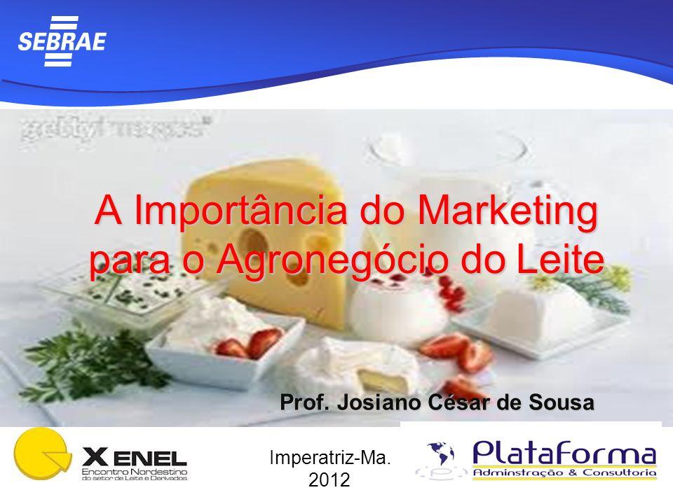 A Importância do Marketing para o Agronegócio do Leite Imperatriz-Ma. 2012 Prof. Josiano César de Sousa