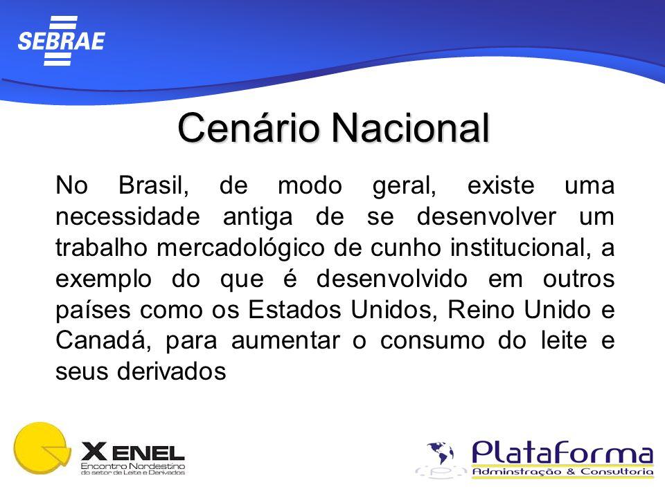 Cenário Nacional No Brasil, de modo geral, existe uma necessidade antiga de se desenvolver um trabalho mercadológico de cunho institucional, a exemplo