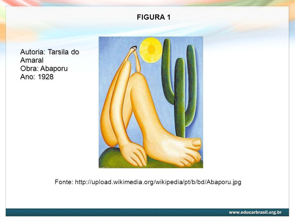 Fonte: http://upload.wikimedia.org/wikipedia/pt/b/bd/Abaporu.jpg FIGURA 1 Autoria: Tarsila do Amaral Obra: Abaporu Ano: 1928