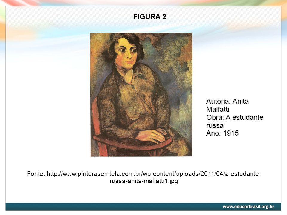 Fonte: http://www.pinturasemtela.com.br/wp-content/uploads/2011/04/a-estudante- russa-anita-malfatti1.jpg FIGURA 2 Autoria: Anita Malfatti Obra: A est