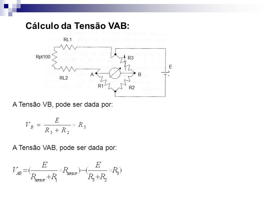 Cálculo da Tensão VAB: A Tensão VB, pode ser dada por: A Tensão VAB, pode ser dada por: