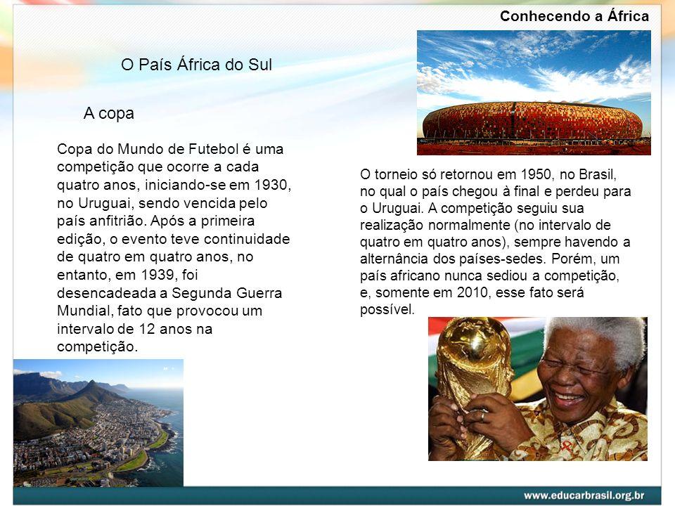 A copa Copa do Mundo de Futebol é uma competição que ocorre a cada quatro anos, iniciando-se em 1930, no Uruguai, sendo vencida pelo país anfitrião. A