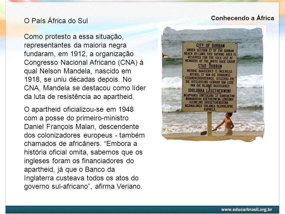 Como protesto a essa situação, representantes da maioria negra fundaram, em 1912, a organização Congresso Nacional Africano (CNA) à qual Nelson Mandel