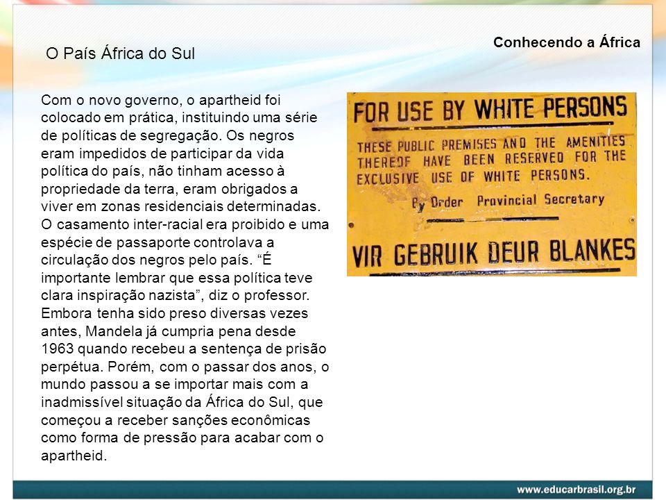 Com o novo governo, o apartheid foi colocado em prática, instituindo uma série de políticas de segregação. Os negros eram impedidos de participar da v