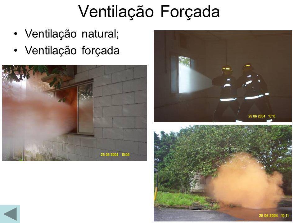 Ventilação natural; Ventilação forçada Ventilação Forçada