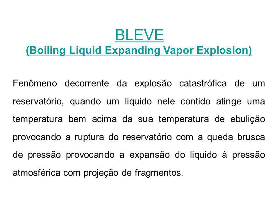 (Boiling Liquid Expanding Vapor Explosion) Fenômeno decorrente da explosão catastrófica de um reservatório, quando um liquido nele contido atinge uma
