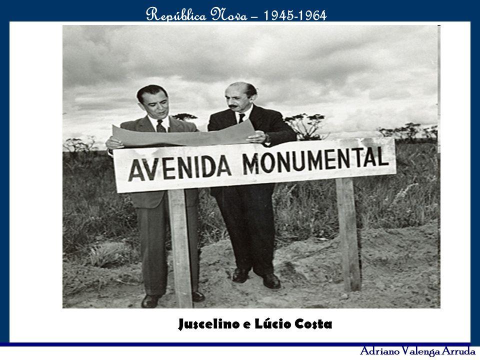 O maior conflito da história República Nova – 1945-1964 Adriano Valenga Arruda Juscelino e Lúcio Costa