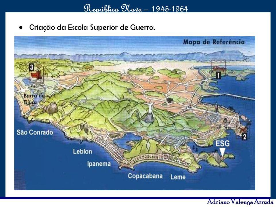 O maior conflito da história República Nova – 1945-1964 Adriano Valenga Arruda Criação da Escola Superior de Guerra.