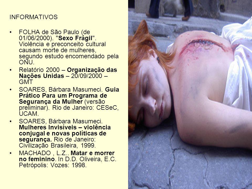 INFORMATIVOS FOLHA de São Paulo (de 01/06/2000).