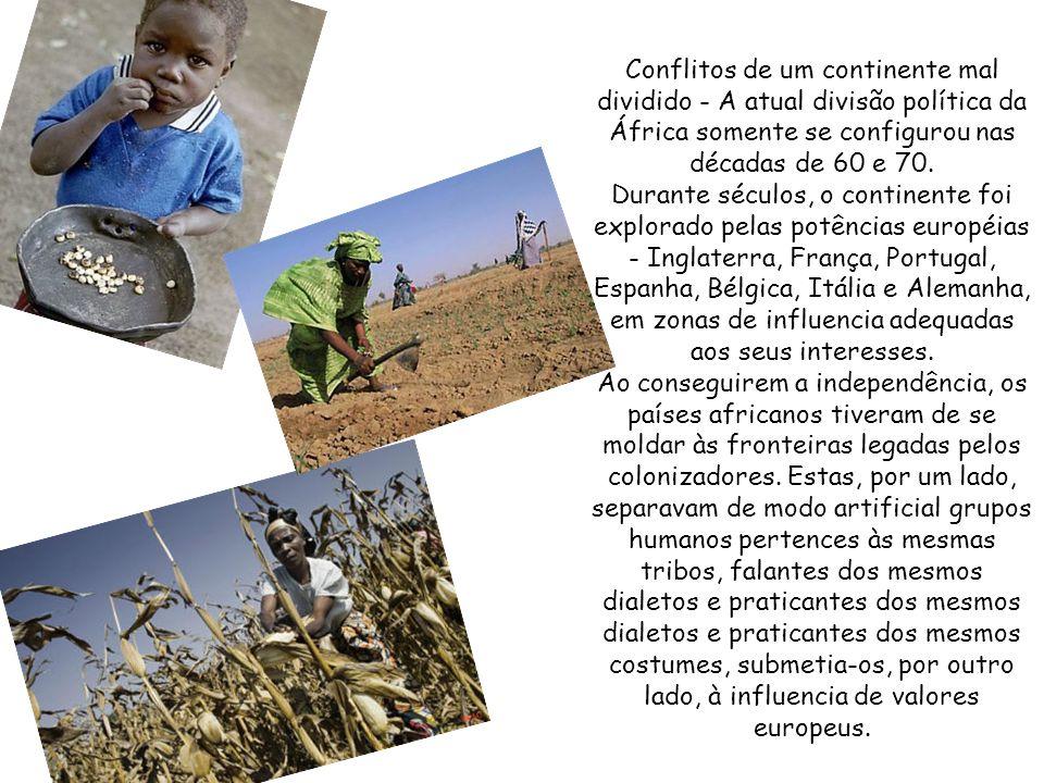 Adversidades climáticas somente ampliam a miséria de milhares de africanos, que vivem abaixo das condições mínimas de sobrevivência. Com a agricultura