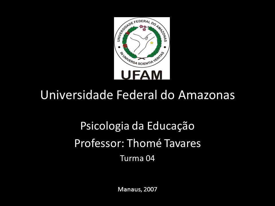 Psicologia da Educação Professor: Thomé Tavares Turma 04 Manaus, 2007 Universidade Federal do Amazonas