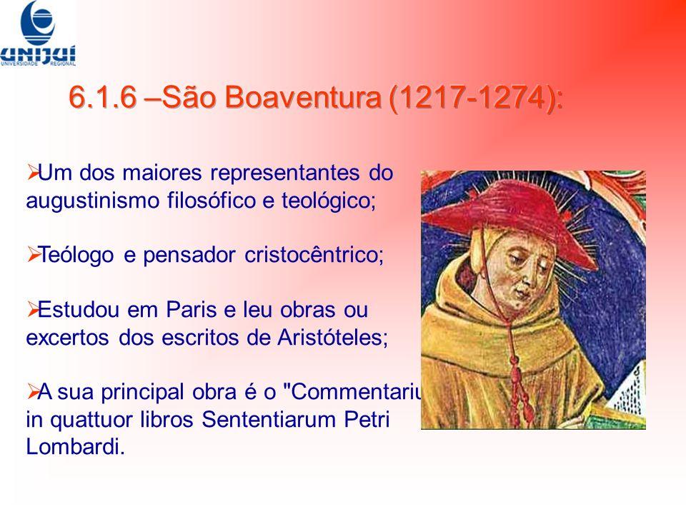 Um dos maiores representantes do augustinismo filosófico e teológico; Teólogo e pensador cristocêntrico; Estudou em Paris e leu obras ou excertos dos