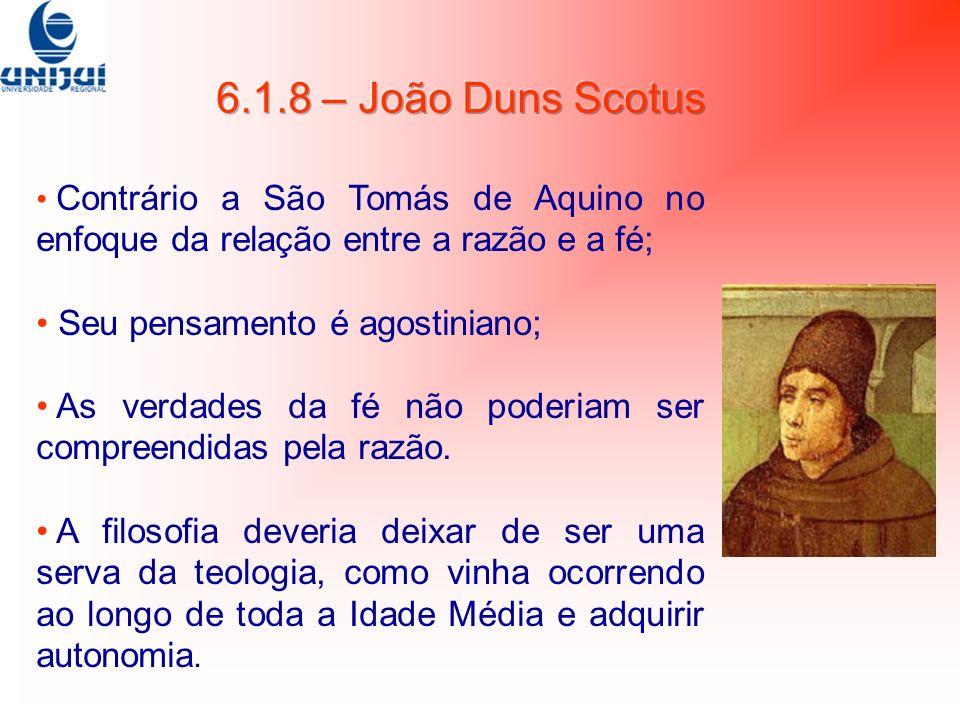 Contrário a São Tomás de Aquino no enfoque da relação entre a razão e a fé; Seu pensamento é agostiniano; As verdades da fé não poderiam ser compreend