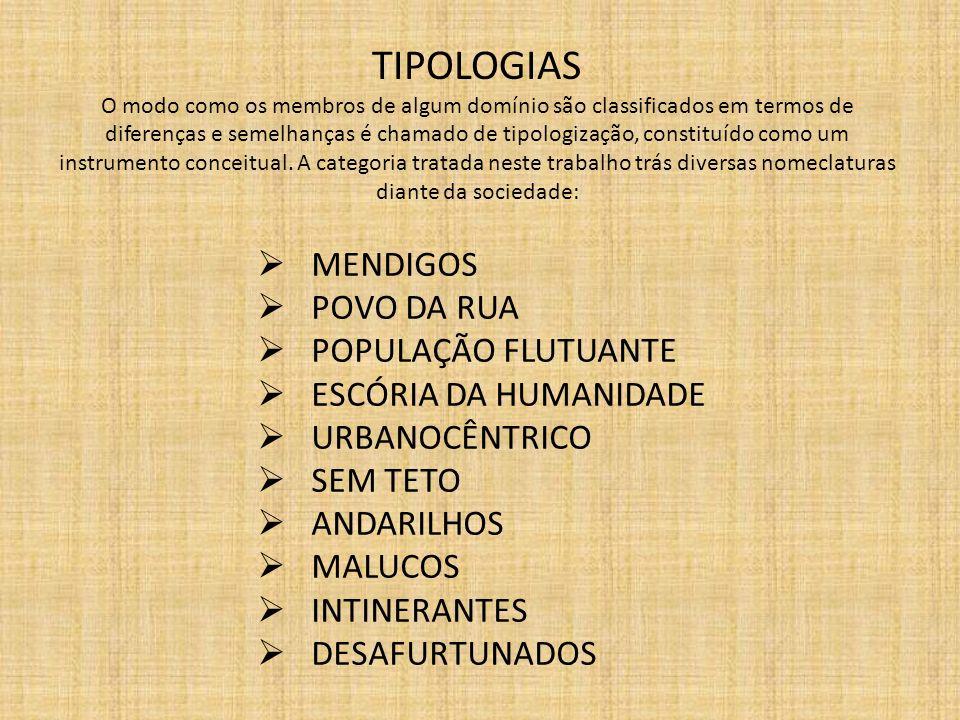 TIPOLOGIAS O modo como os membros de algum domínio são classificados em termos de diferenças e semelhanças é chamado de tipologização, constituído com