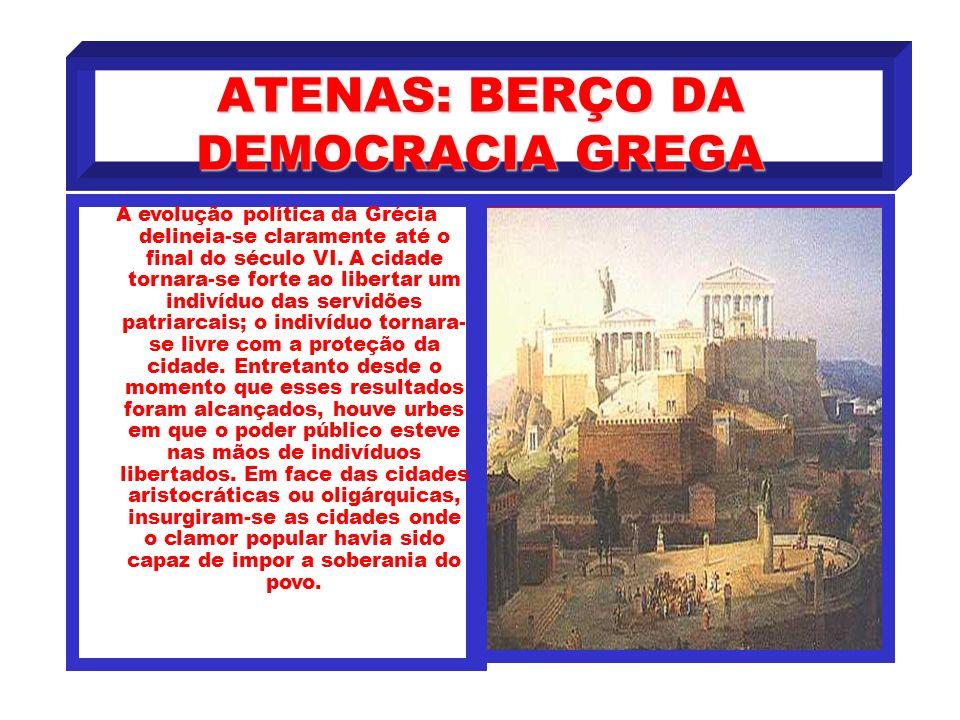 ORIGENS DA DEMOCRACIA De maneira geral, a nova ordem econômica, provocava rápido aumento nas classes inferiores e agravava-lhes a situação. A medida q