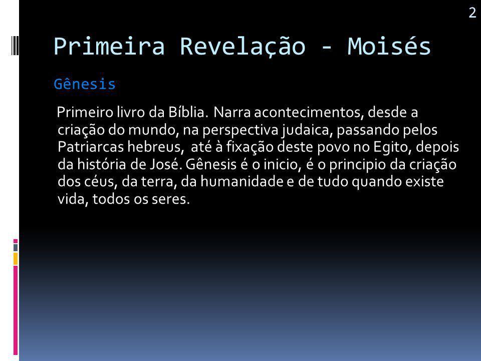 Primeira Revelação - Moisés Do grego,