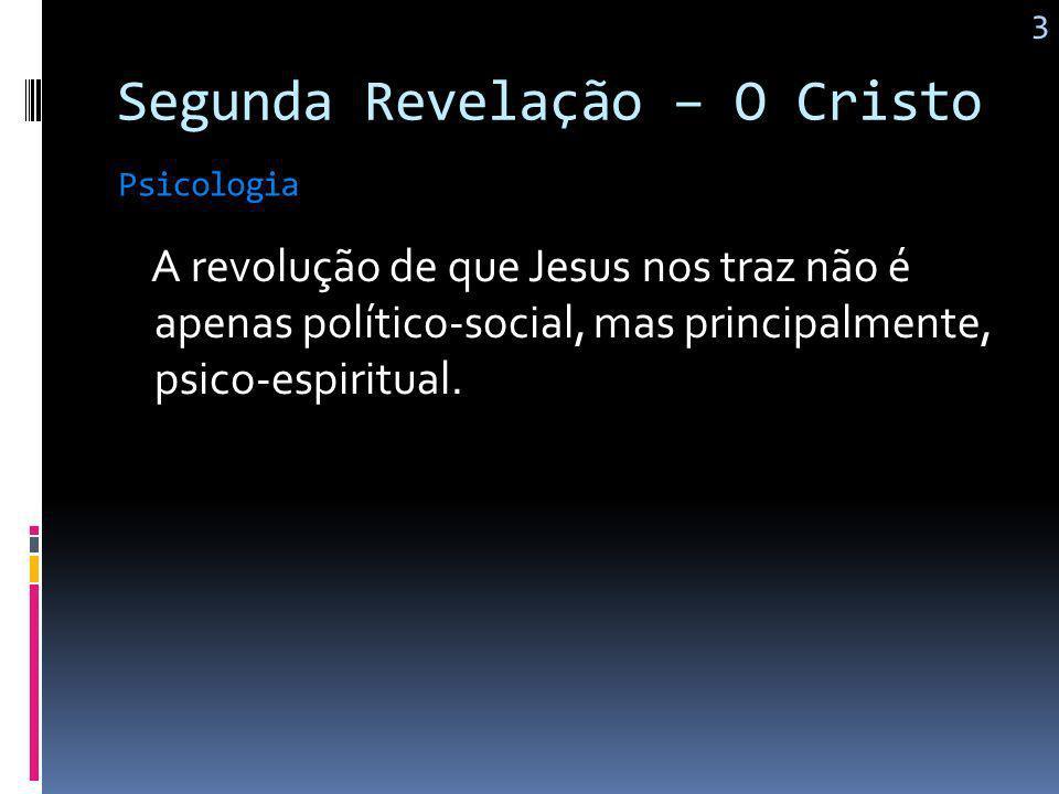 Segunda Revelação – O Cristo Aí está toda a lei e os profetas Jesus 2 Amar a Deus acima de todas as coisas; Amar o próximo como a si mesmo.