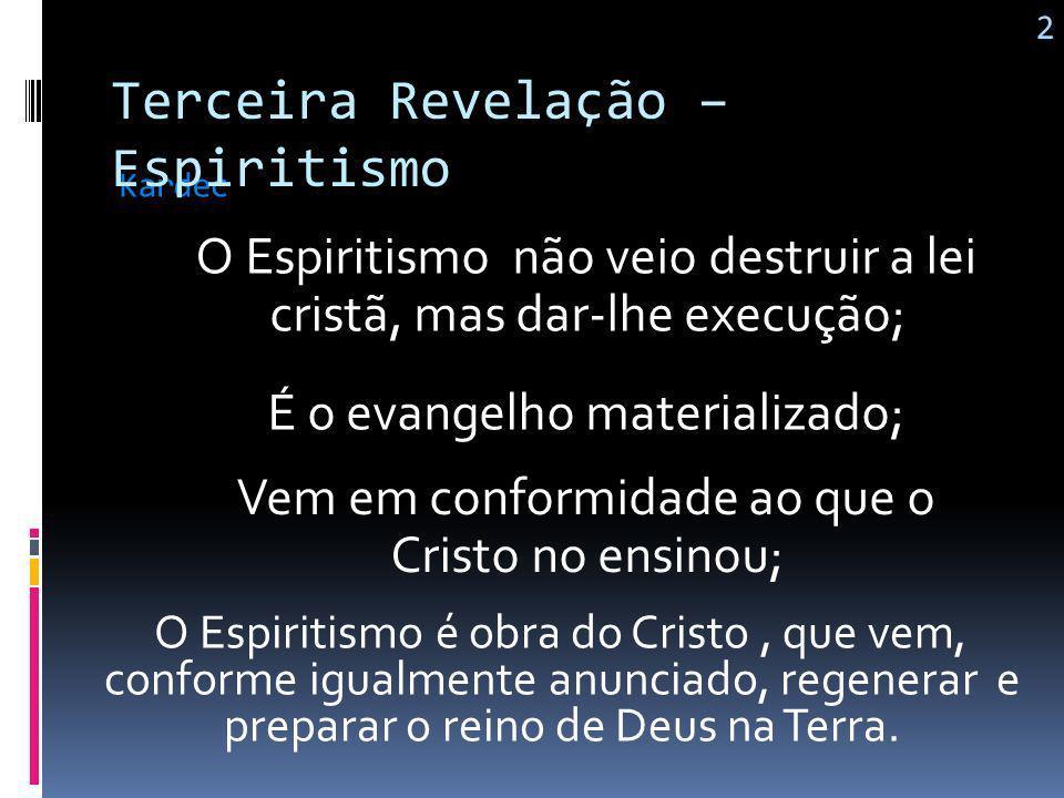 O Espiritismo é a ciência nova que vem revelar aos homens, por meio de provas irrecusáveis, a existência e a natureza do mundo espiritual e as relaçõe