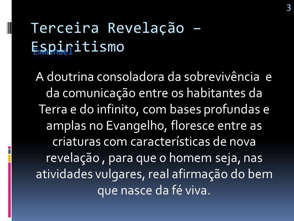 O Espiritismo não veio destruir a lei cristã, mas dar-lhe execução; Kardec 2 Terceira Revelação – Espiritismo É o evangelho materializado; Vem em conf