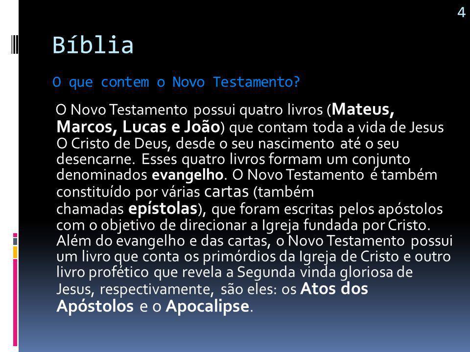 Bíblia O Antigo Testamento nos revela desde a suposta Criação do mundo, profecias que anunciavam a vinda do Messias, a fidelidade e infidelidade do po