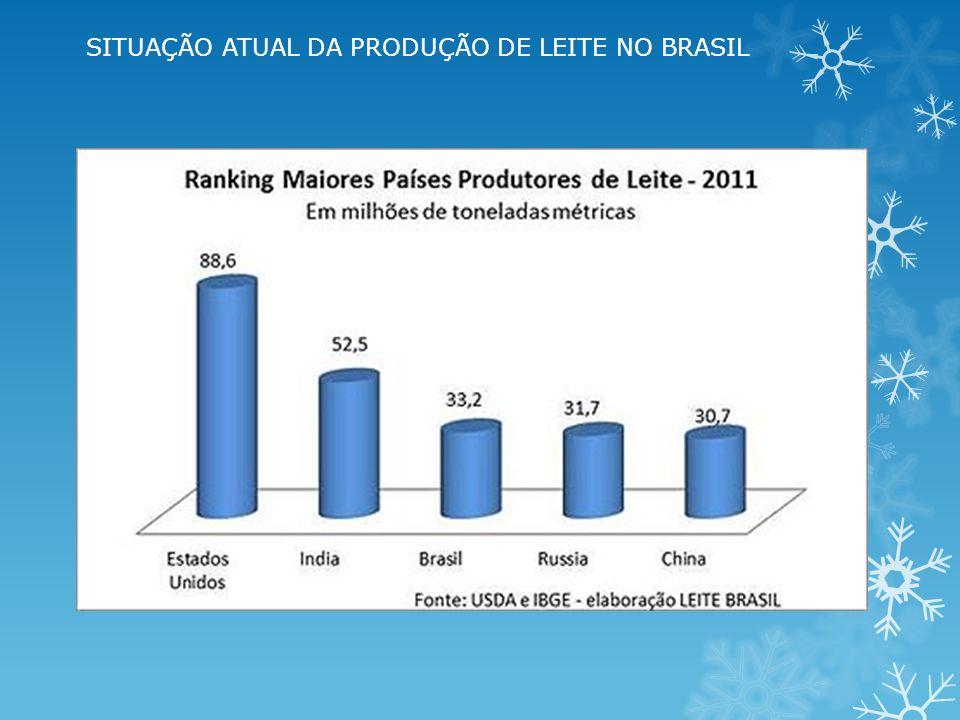 SITUAÇÃO ATUAL DA PRODUÇÃO DE LEITE NO BRASIL