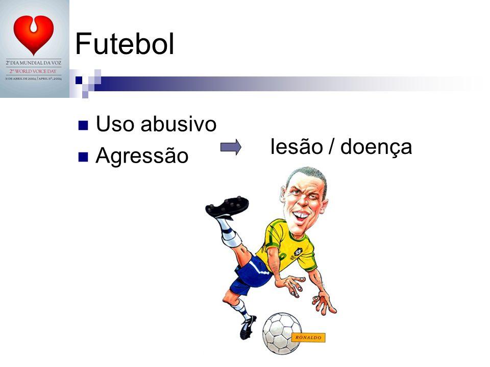 Futebol Uso abusivo Agressão lesão / doença