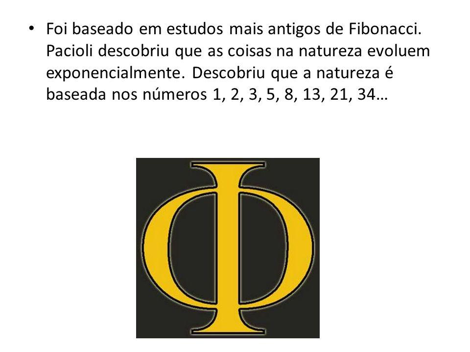 Foi baseado em estudos mais antigos de Fibonacci. Pacioli descobriu que as coisas na natureza evoluem exponencialmente. Descobriu que a natureza é bas