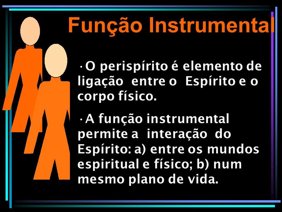 Função Instrumental O perispírito é elemento de ligação entre o Espírito e o corpo físico. A função instrumental permite a interação do Espírito: a) e