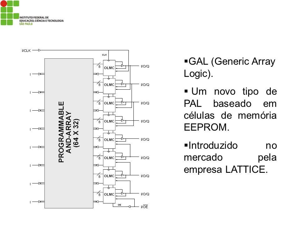 GAL (Generic Array Logic). Um novo tipo de PAL baseado em células de memória EEPROM. Introduzido no mercado pela empresa LATTICE.
