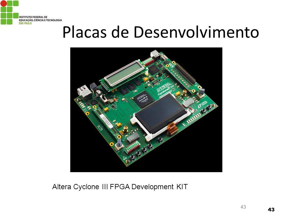 43 Placas de Desenvolvimento Altera Cyclone III FPGA Development KIT