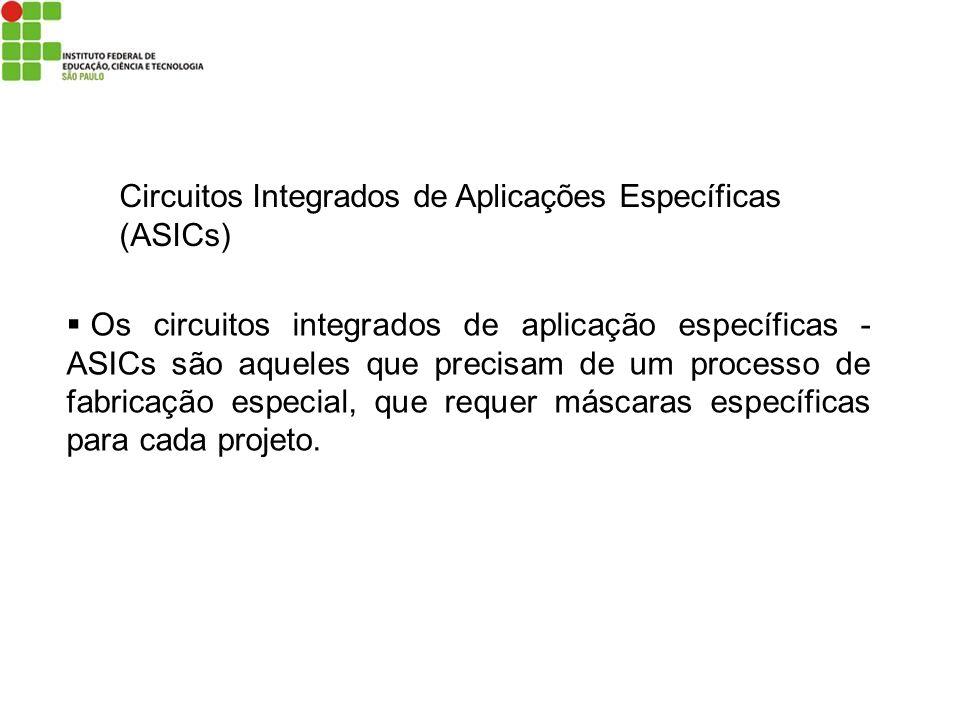 Circuitos Integrados de Aplicações Específicas (ASICs) Os circuitos integrados de aplicação específicas - ASICs são aqueles que precisam de um process