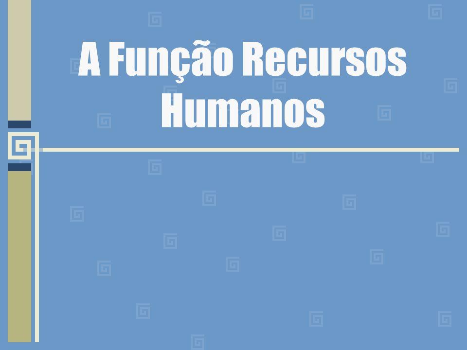 Administração de Recursos Humanos Participam das organizações e Pessoas que prestam seus serviços.