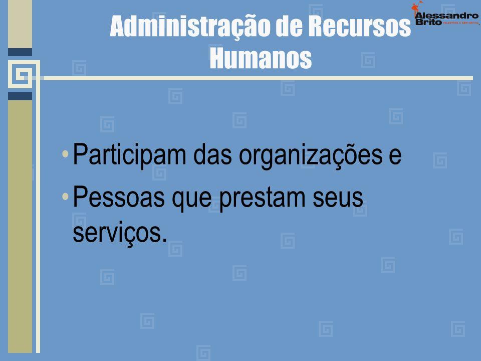 TRABALHAR Vivendo ou Trabalhando nas organizações.