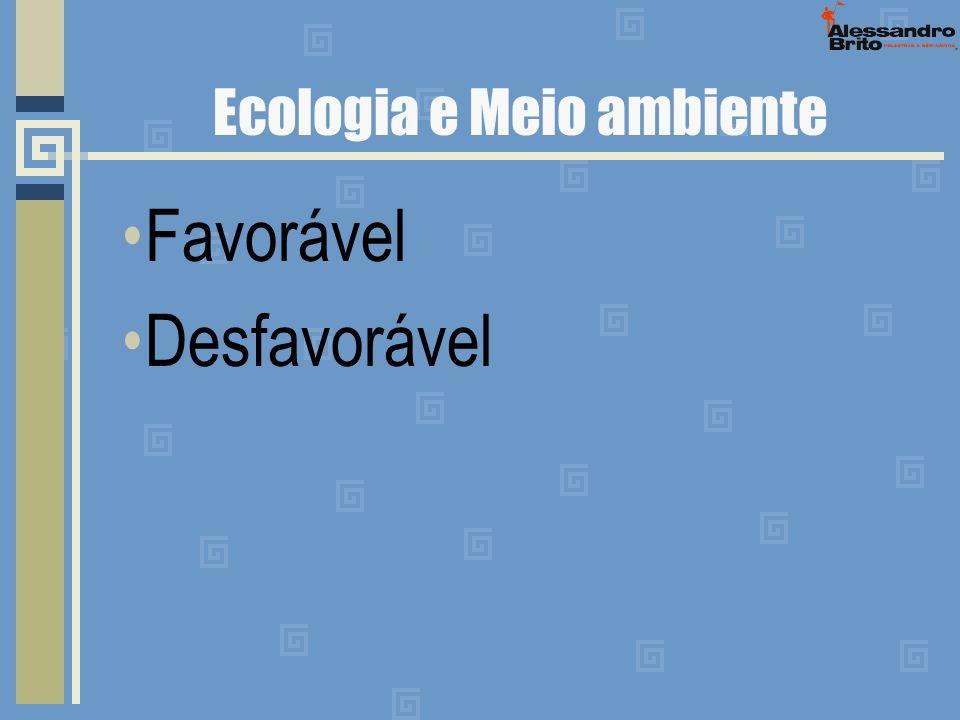 Ecologia e Meio ambiente Favorável Desfavorável