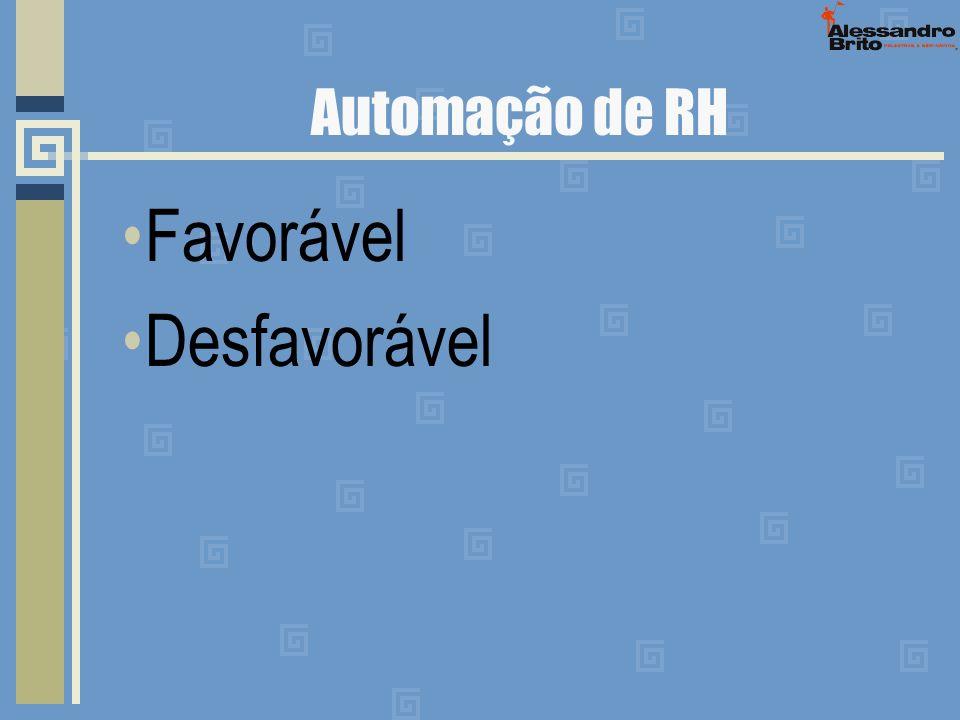Automação de RH Favorável Desfavorável