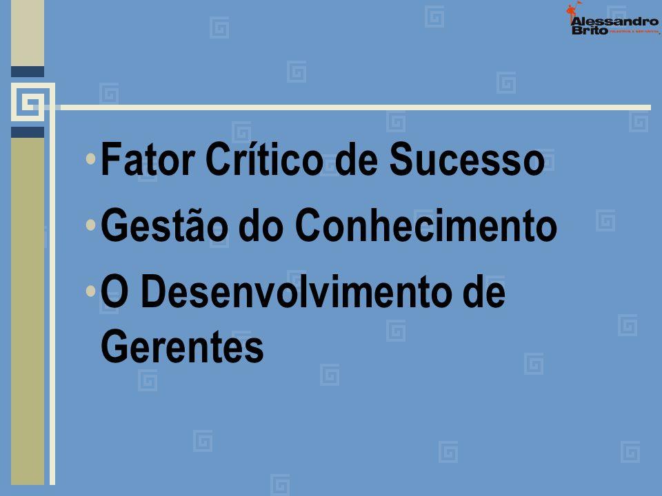 Fator Crítico de Sucesso Gestão do Conhecimento O Desenvolvimento de Gerentes