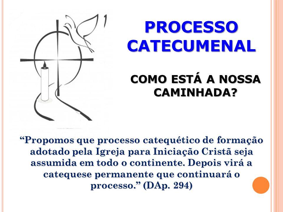 PROCESSO CATECUMENAL COMO ESTÁ A NOSSA CAMINHADA.