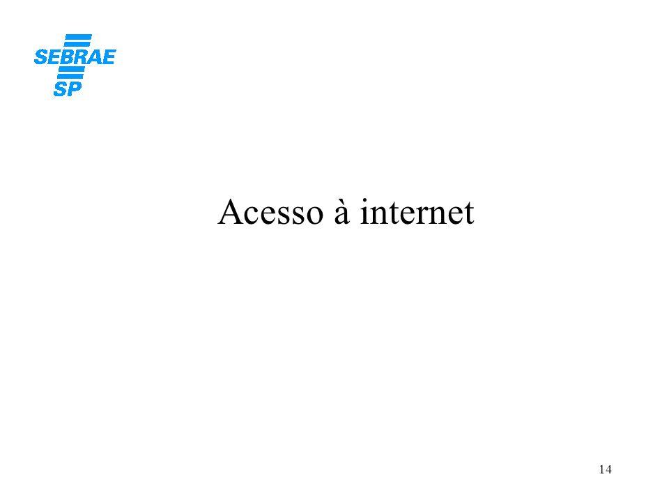 14 Acesso à internet