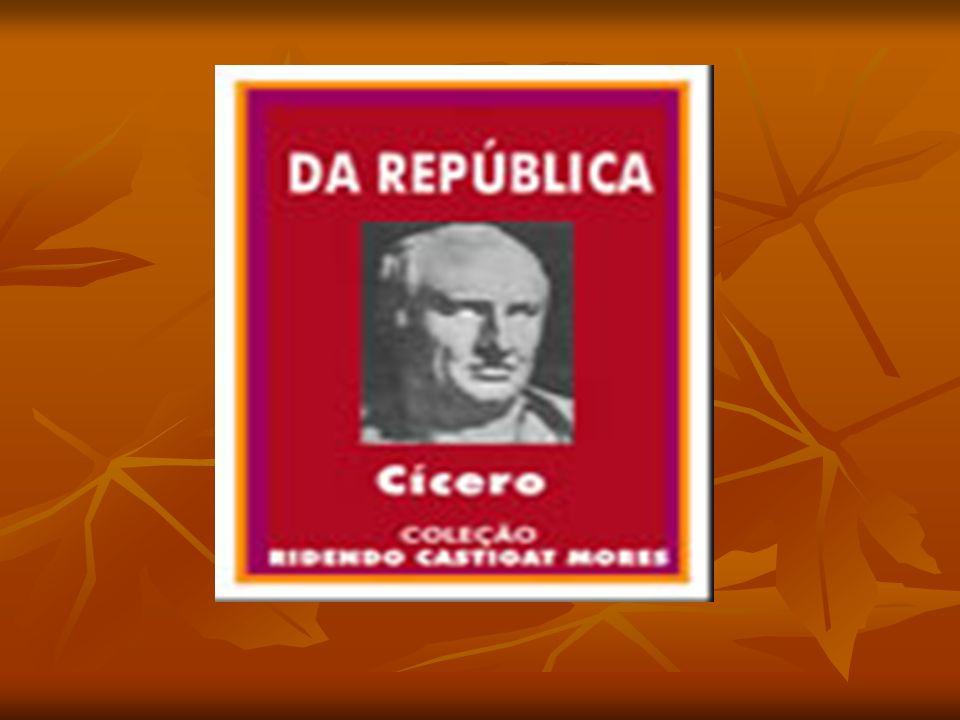 BIOGRAFIA DO AUTOR Marco Túlio Cícero, nasceu em Arpino no ano 106 a.C., falecendo em Gaeta no ano de 43.