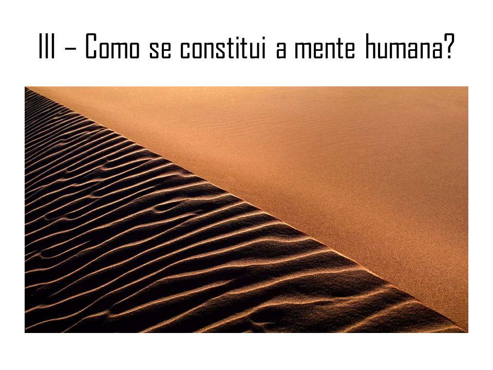 III – Como se constitui a mente humana?