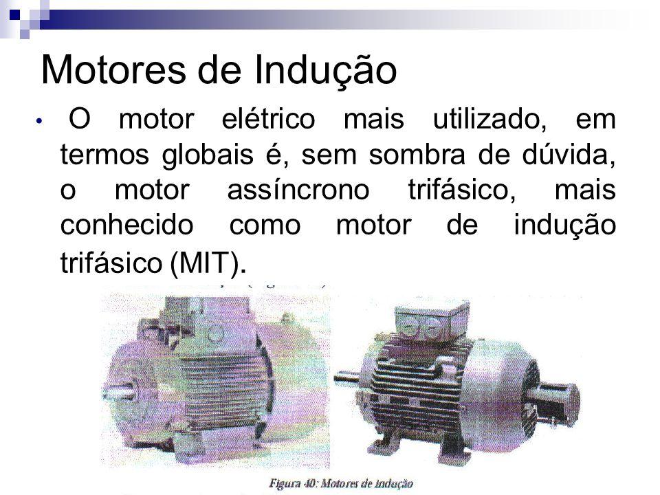 Motores de Indução O motor elétrico mais utilizado, em termos globais é, sem sombra de dúvida, o motor assíncrono trifásico, mais conhecido como motor