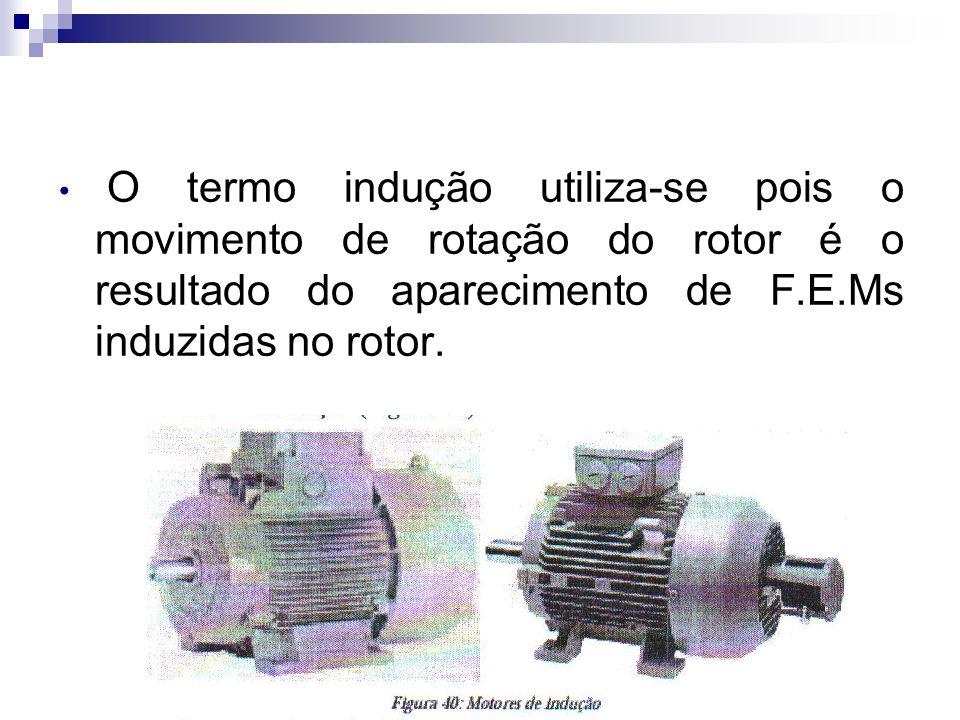 O motor de indução é um motor que baseia o seu princípio de funcionamento na criação de um campo magnético rotativo.