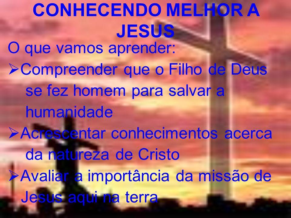 5 O que vamos aprender: Compreender que o Filho de Deus se fez homem para salvar a humanidade Acrescentar conhecimentos acerca da natureza de Cristo A