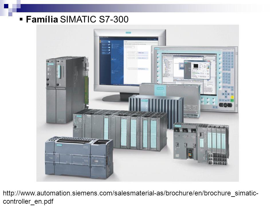 Família SIMATIC S7-300 http://www.automation.siemens.com/salesmaterial-as/brochure/en/brochure_simatic- controller_en.pdf