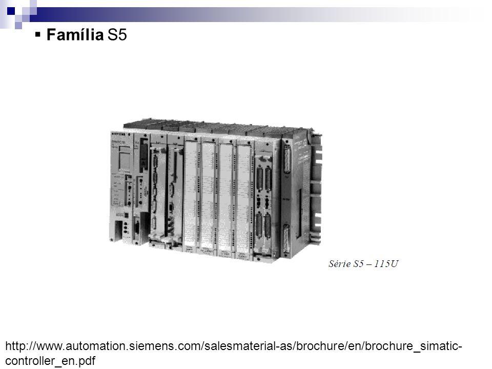 Família S5 http://www.automation.siemens.com/salesmaterial-as/brochure/en/brochure_simatic- controller_en.pdf